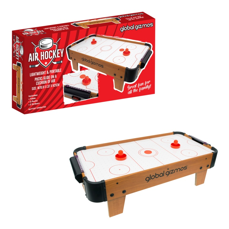 Global Gizmos Deluxe Table Top Air Hockey Game
