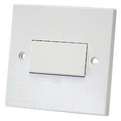 Dencon Fan Isolator Switch White