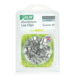 ALM Aluminium Lap Clips Pack of 50
