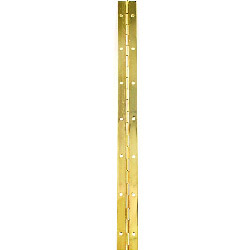 Securit Piano Hinge Brass Plated Priced Per Length - 6' x 1 1/4""