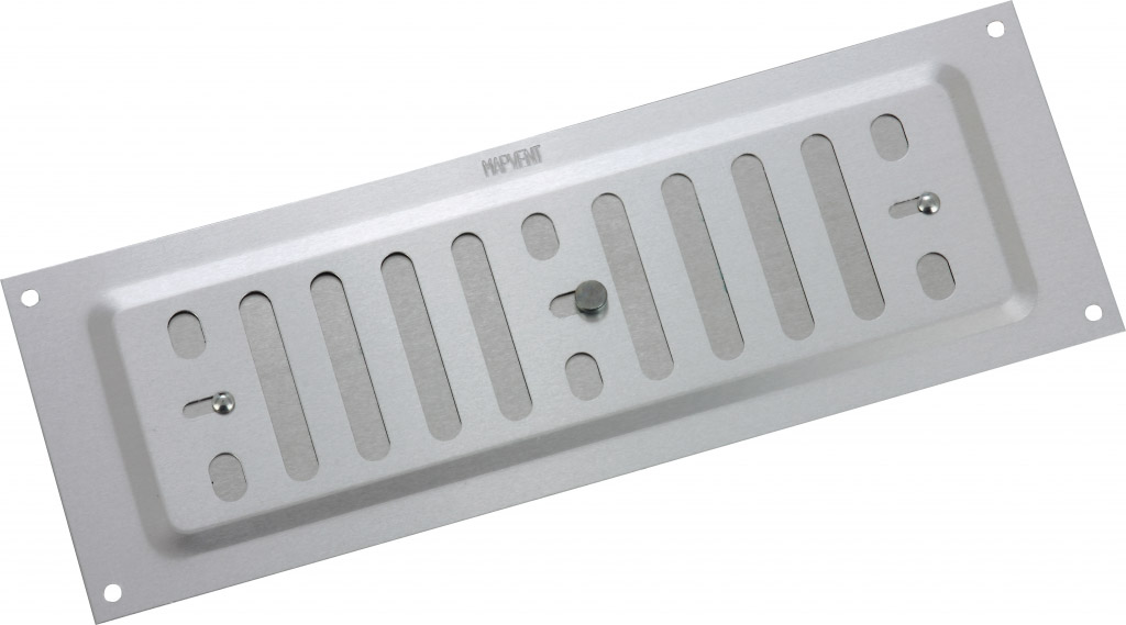 "Map Adjustable 'Hit & Miss' Aluminium Vents - Silver - Opening Size: 9"" x 3"" - 229 x 76mm"