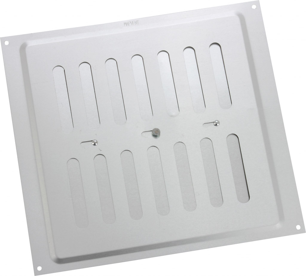 "Map Adjustable 'Hit & Miss' Aluminium Vents - Silver - Opening Size: 9"" x 9"" - 229 x 229mm"