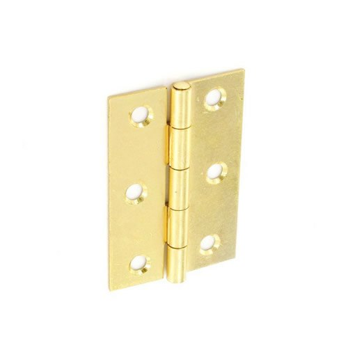 Securit Steel Butt Hinges Brass Plated (1 1/2 Pair) - 100mm