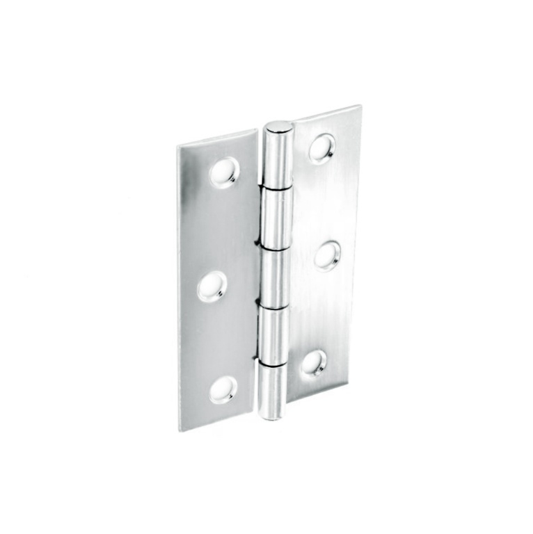Securit Steel Butt Hinges Polished Chrome Plated (Pair) - 75mm