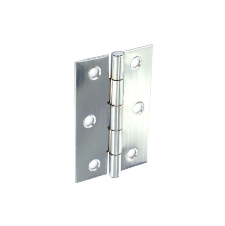 Securit Steel Butt Hinges Zinc Plated - 100mm (Pair)