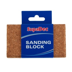 SupaDec Decorator Cork Sanding Block