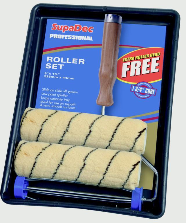 "SupaDec Tiger Stripe Roller Kit - Professional 9"" x 1.75"""