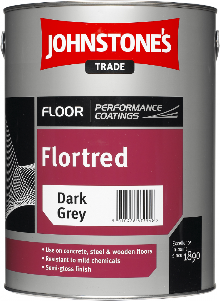 Johnstone's Trade Flortred 5L - Dark Grey