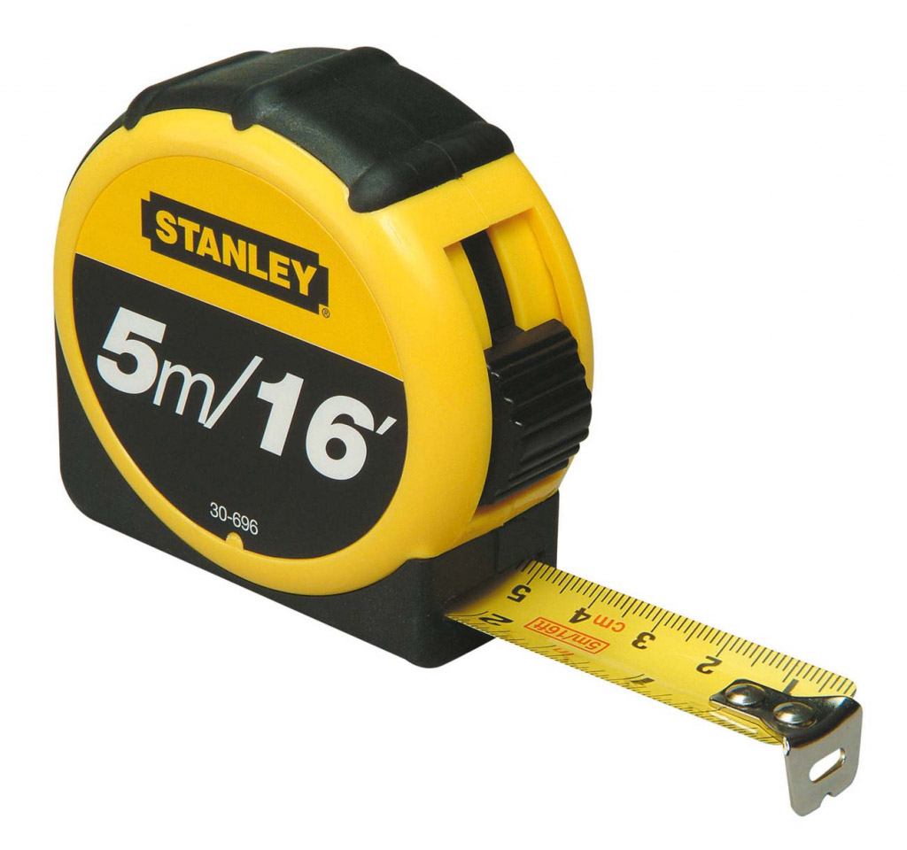 Stanley Measuring Metric/Imperial Tape - Length: 5m (16ft) x Width: 19mm