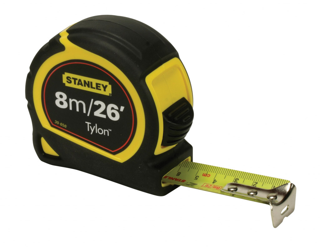 Stanley Tylon Tape Measure - Length: 8m (26ft) x Width: 25mm