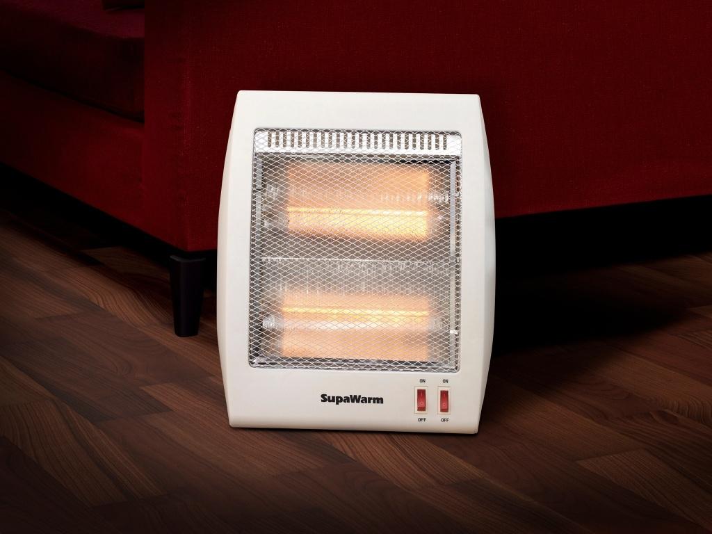 SupaWarm Halogen Heater 800w - Size:268mm(w)x130mm(d)x370mm(h)