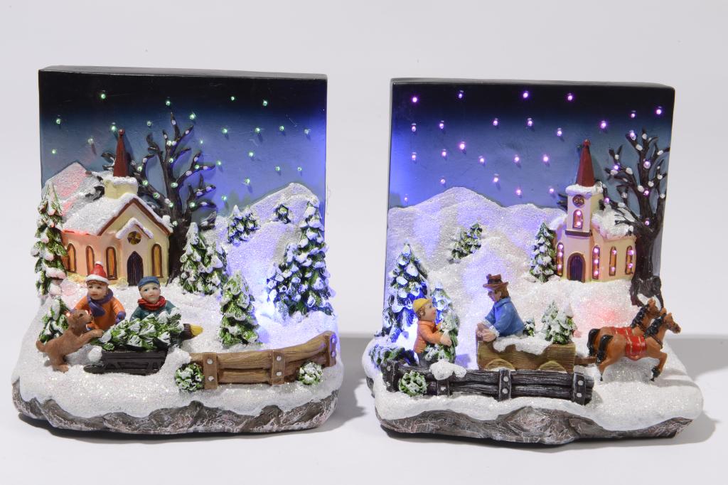 Kaemingk LED Fibre Optic Christmas Town Multi - 15.5cm x 16 x 11