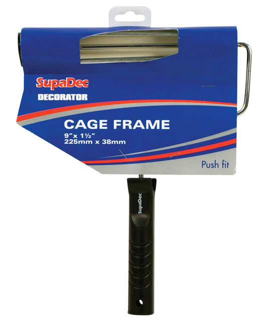 """SupaDec Roller Frame with Plastic Handle - 9"""" x 1.5"""" / 225mm x 38mm"""