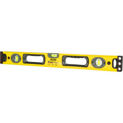 Stanley FatMax Spirit Level - Length: 60cm - No. of Vials: 3 - Secondary surface: 1