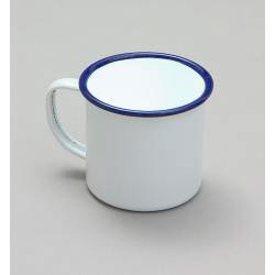 Falcon Traditional Enamel White Mug