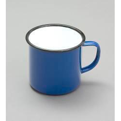 Falcon Traditional Enamel Mug Green/Blue/Red - 8cm x 284ml