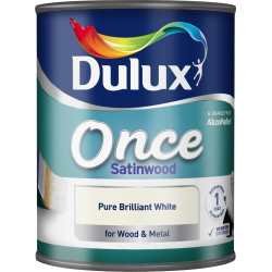 Dulux Once Coat Satin Wood 750ml