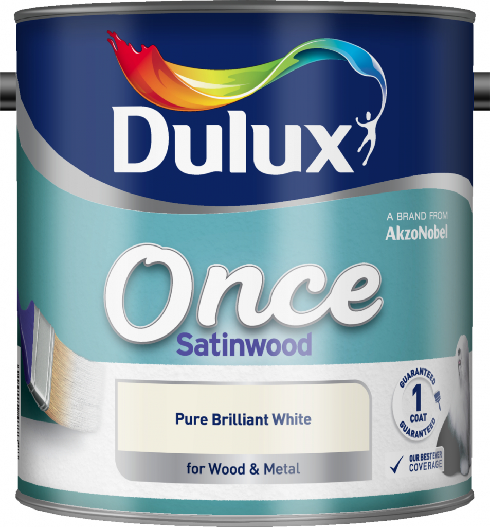 Dulux Once Satinwood 2.5L - Pure Brilliant White