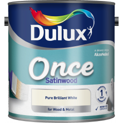 Dulux Once Satinwood 2.5L Pure Brilliant White