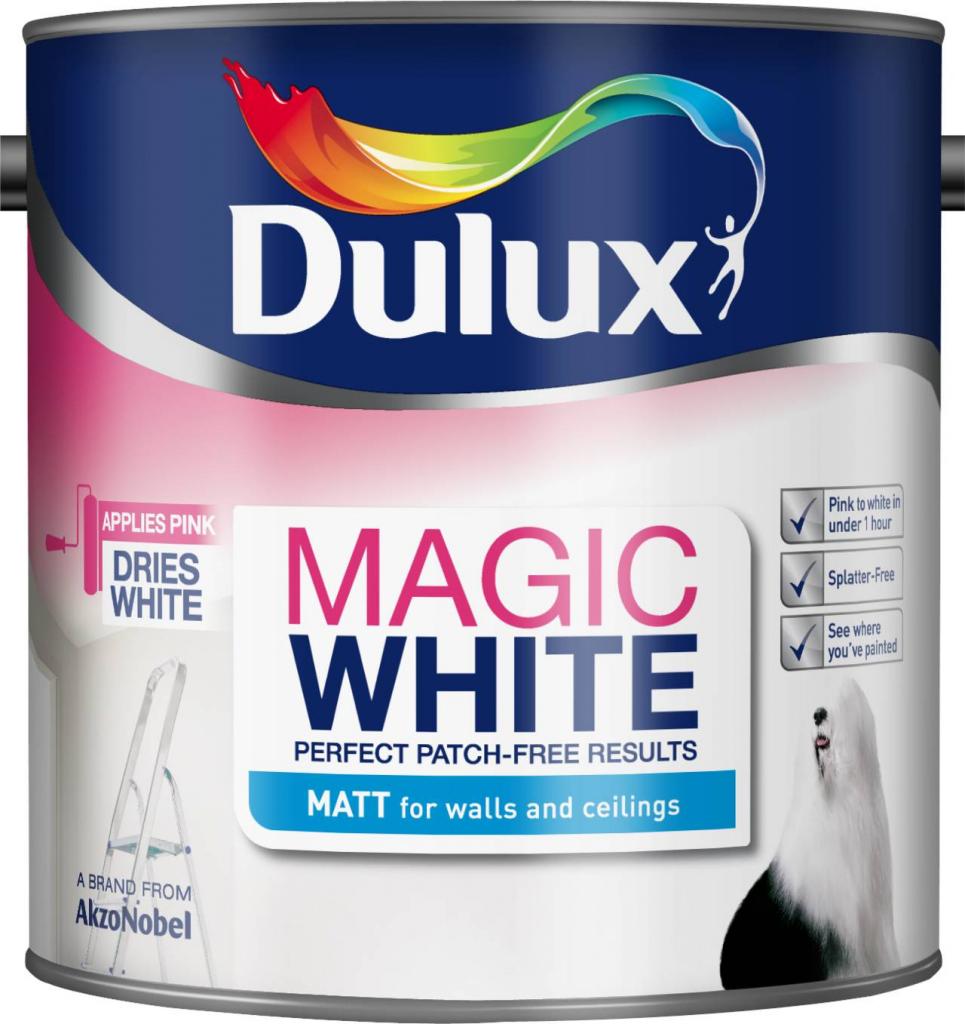 Dulux Magic White Matt 2.5L - Pure Brilliant White