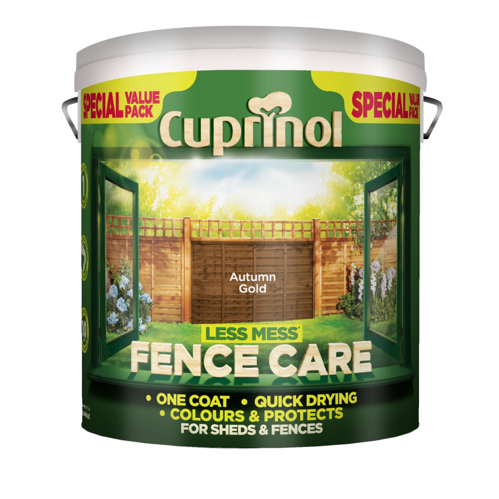 Cuprinol Less Mess Fence Care 6L - Autumn Gold