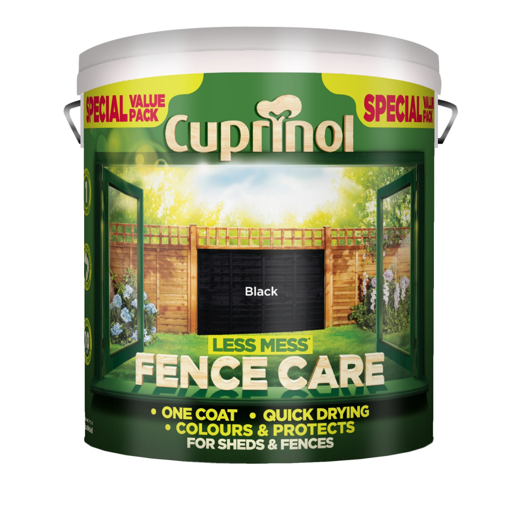 Cuprinol Less Mess Fence Care 6L - Black