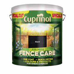 Cuprinol Less Mess Fence Care 6L Black