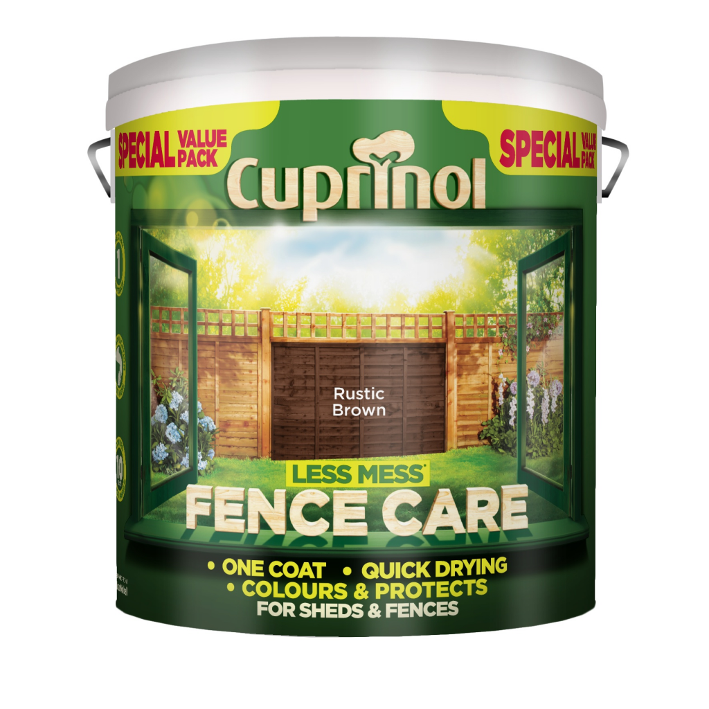 Cuprinol Less Mess Fence Care 6L - Rustic Brown