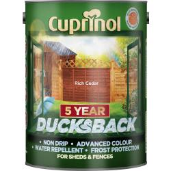 Cuprinol Ducksback 5L Rich Cedar