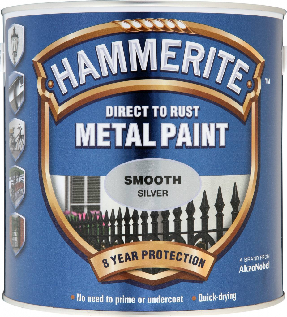 Hammerite Metal Paint Smooth 2.5L - Silver