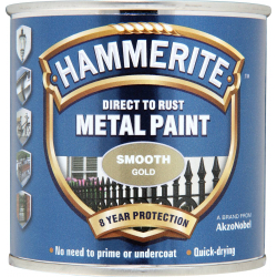 Hammerite Metal Paint Smooth 250ml Gold