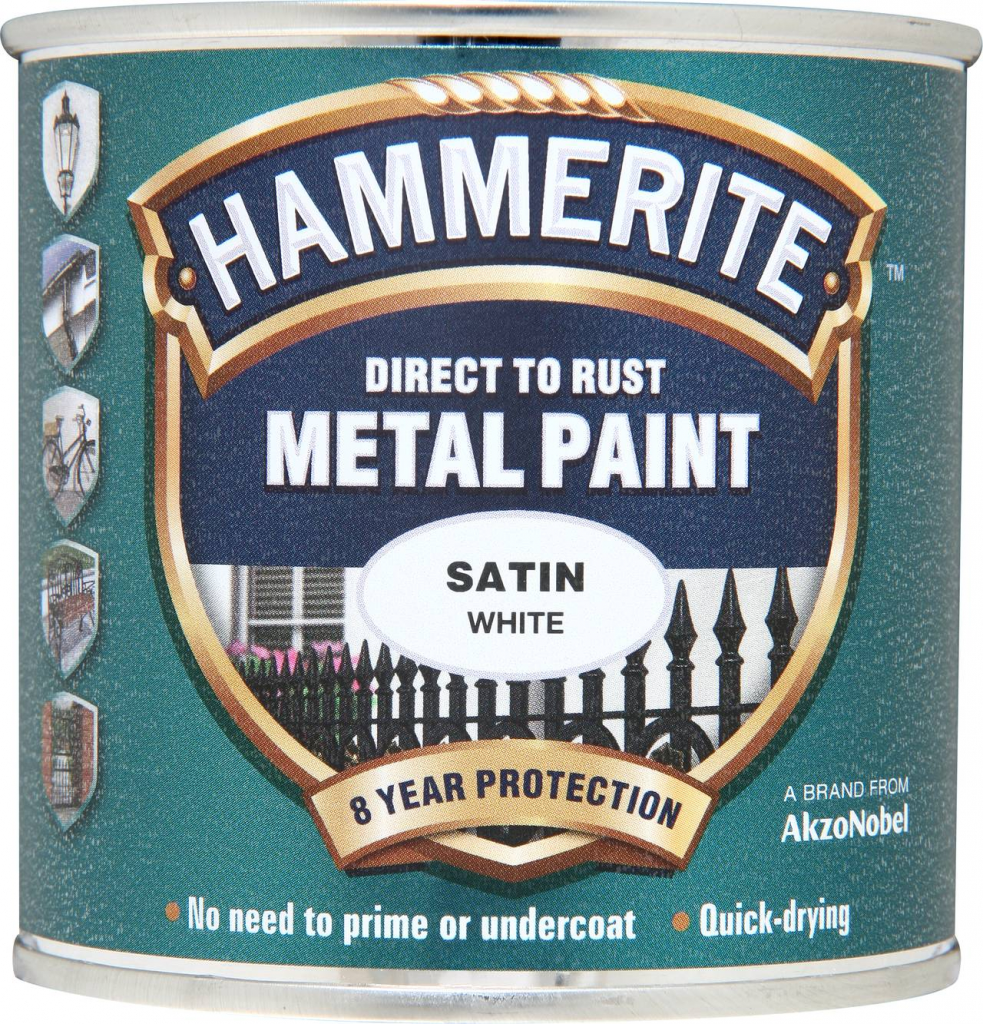 Hammerite Metal Paint Satin 250ml - White