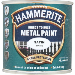Hammerite Metal Paint Satin 250ml White
