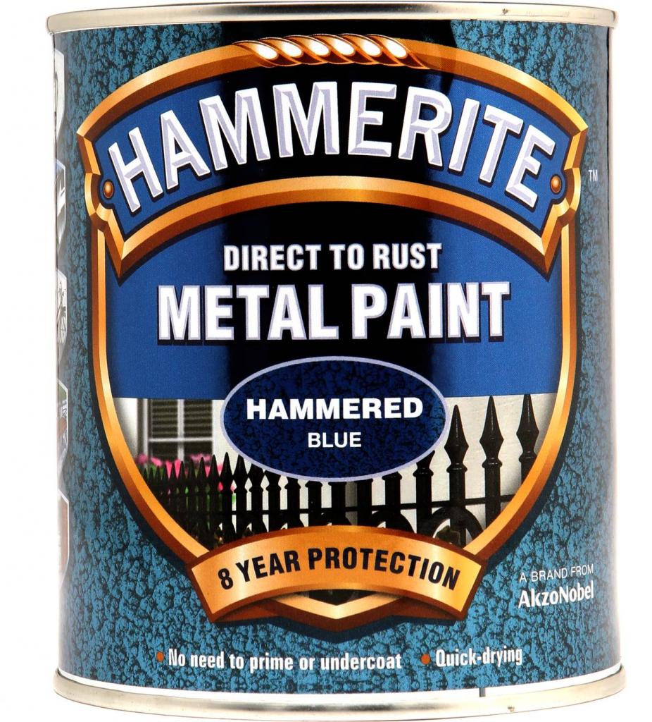 Hammerite Metal Paint Hammered 750ml - Blue