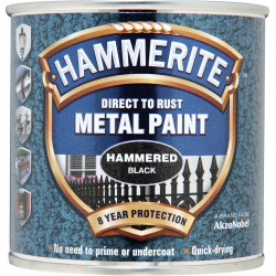 Hammerite Metal Paint Hammered 250ml Black