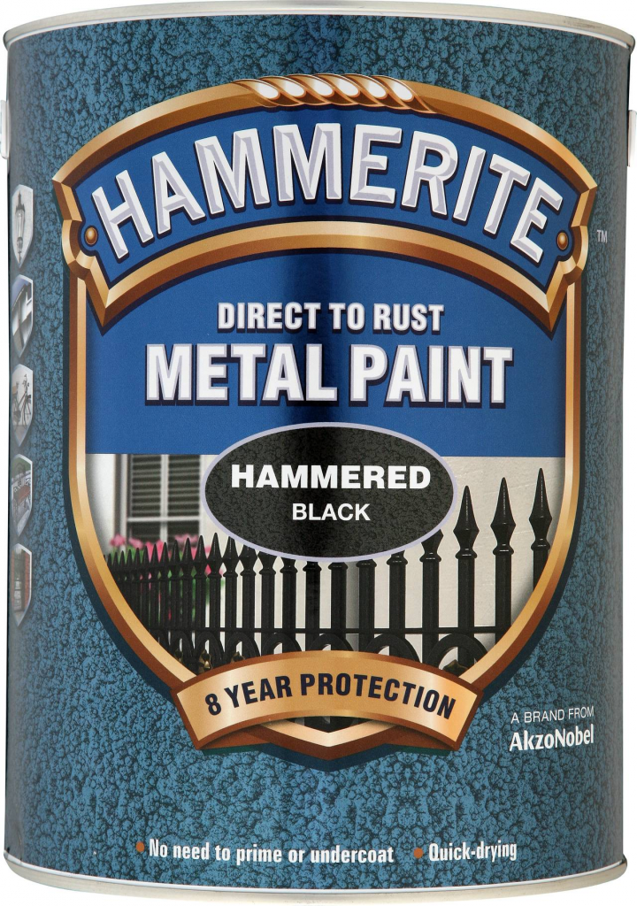 Hammerite Metal Paint Hammered 5L - Black