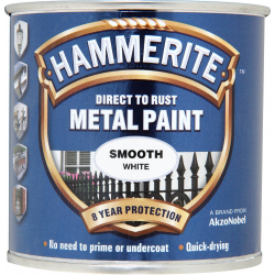 Hammerite Metal Paint Smooth 250ml White