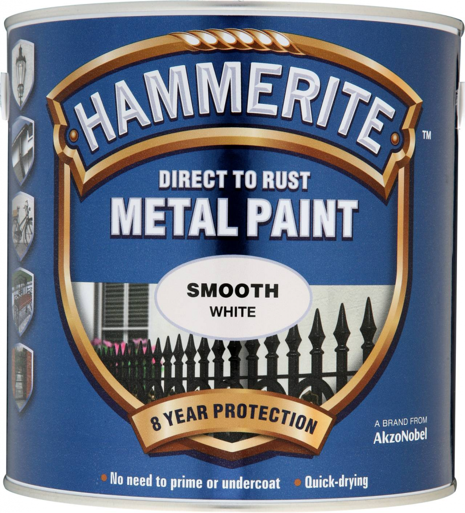 Hammerite Metal Paint Smooth 2.5L - White