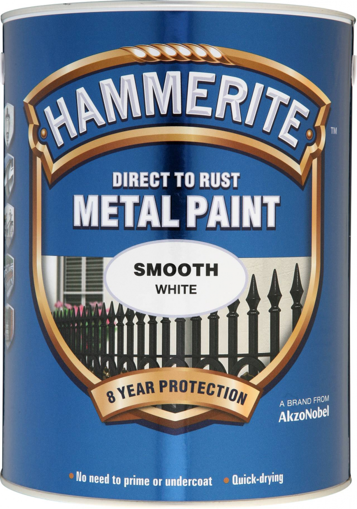 Hammerite Metal Paint Smooth 5L - White