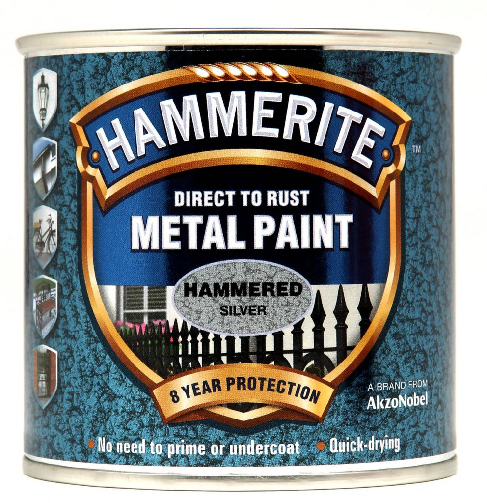 Hammerite Metal Paint Hammered 250ml - Silver