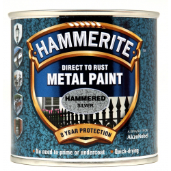 Hammerite Metal Paint Hammered 250ml Silver