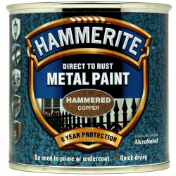 Hammerite Metal Paint Hammered 250ml Copper