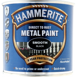 Hammerite Metal Paint Smooth 250ml Black
