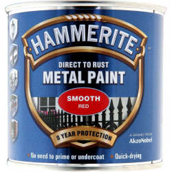 Hammerite Metal Paint Smooth 250ml Red