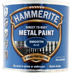 Hammerite Metal Paint Smooth 250ml Blue