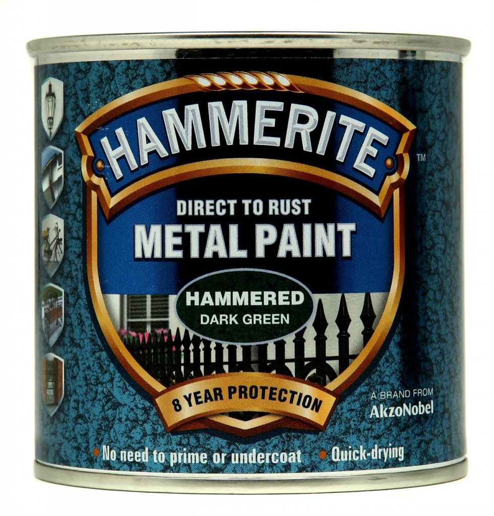 Hammerite Metal Paint Hammered 250ml - Dark Green