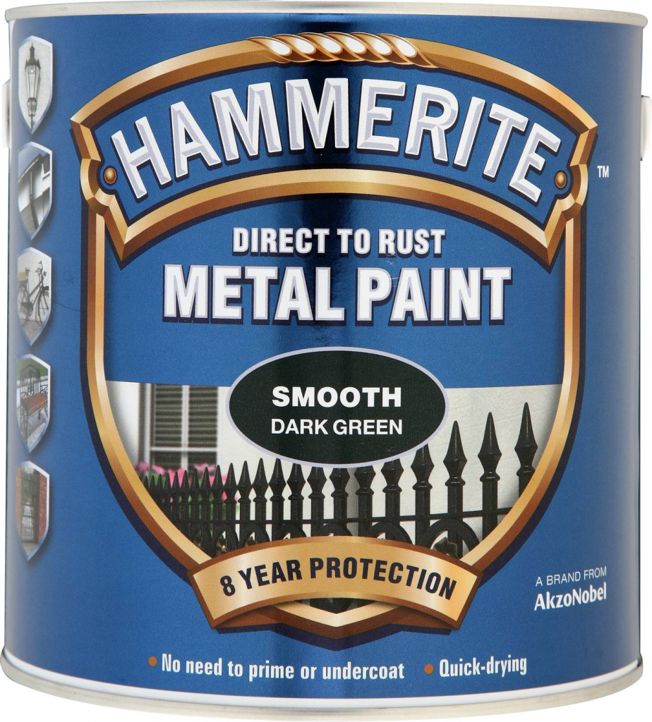 Hammerite Metal Paint Smooth 2.5L - Dark Green