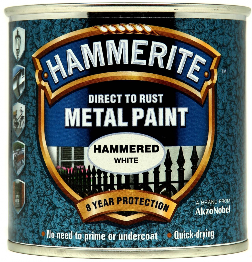 Hammerite Metal Paint Hammered 250ml - White
