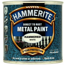 Hammerite Metal Paint Hammered 250ml White