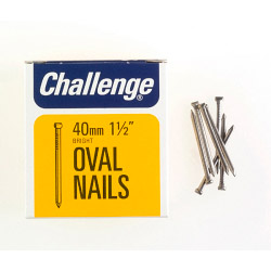 Challenge Oval Wire Nails - Bright Steel (Box Pack) - 40mm